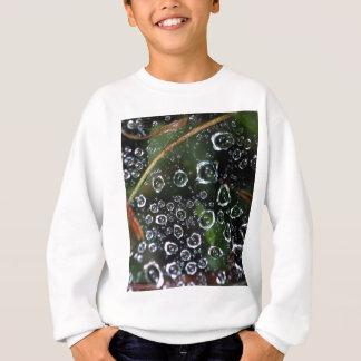 Dew drops in a spider net sweatshirt