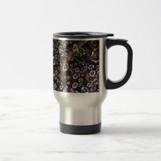 Dew drops in a spider net travel mug