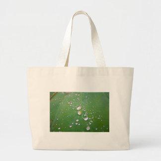 Dew Drops Large Tote Bag