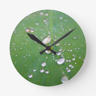 Dew Drops Round Clock