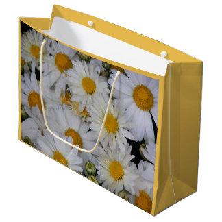 Dew-Kissed Daisies Floral Large Gift Bag