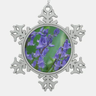 Dew on Bell Flowers Pewter Snowflake Decoration