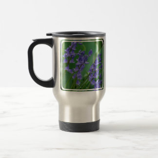 Dew on Bell Flowers Stainless Steel Travel Mug