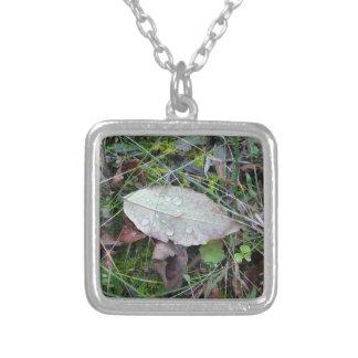 Dewdrop Leaf Necklace