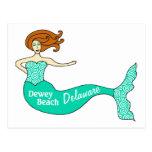 Dewey Beach, DE Mermaid Postcard