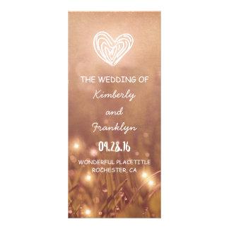 Dewy Grass Rustic Wedding programs Rack Card