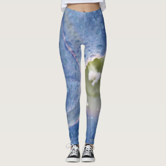 Dewy Morning Glory Flower Leggings