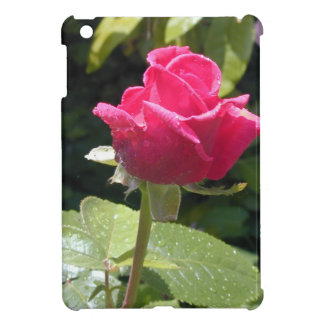 Dewy Red Rose - Single Stem iPad Mini Cover