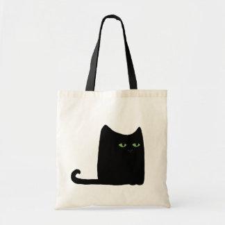 Dexter the Fat Black Cat Tote (customizable) Budget Tote Bag