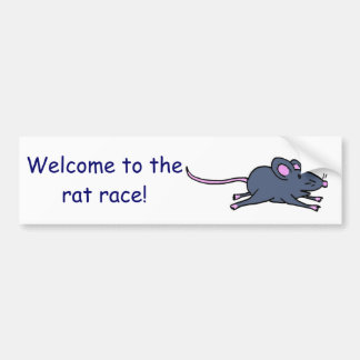 DF- zzzmouse1c, Welcome to therat race! Bumper Sticker