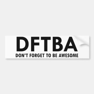 DFTBA BUMPER STICKER