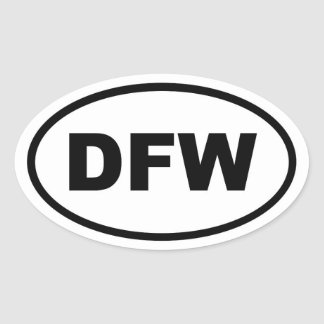 DFW Dallas Fort Worth Oval Sticker