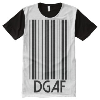 DGAF Barcode All-Over Print T-Shirt