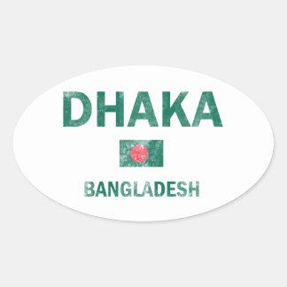 Dhaka Bangladesh designs Oval Sticker