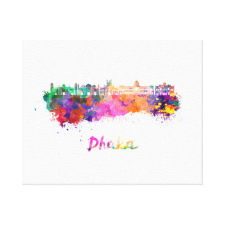 Dhaka skyline in watercolor canvas print