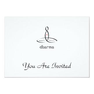 Dharma - Black Fancy style 13 Cm X 18 Cm Invitation Card