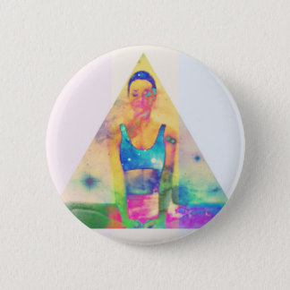Dharma Girl Yoga Series 6 Cm Round Badge