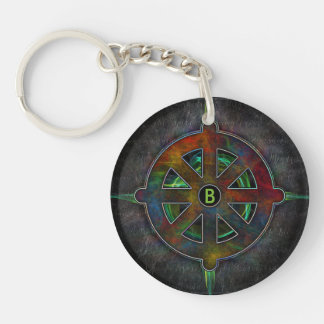 Dharma Spirit Wheel of Energy Key Ring