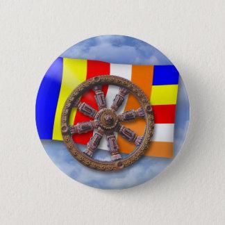 Dharma-Wheel 6 Cm Round Badge