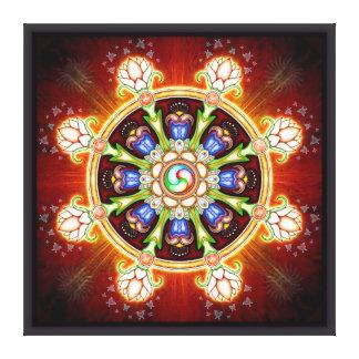 Dharma - wheel canvas print