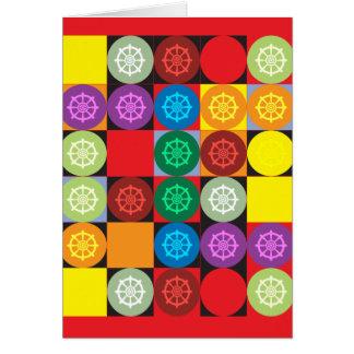 Dharma Wheel Card