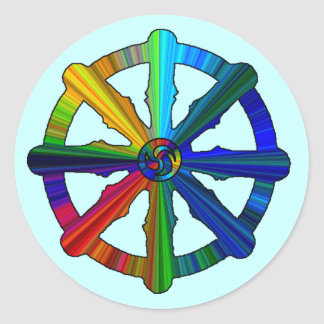 Dharma Wheel Colorful Stickers