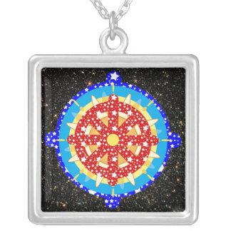 Dharma Wheel [Dharmachakra] Pendant Necklace