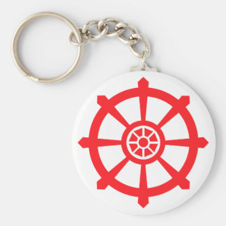 Dharma Wheel Key Ring