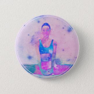 Dharma Yoga Girl Series Pink 6 Cm Round Badge