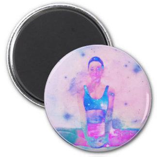 Dharma Yoga Girl Series Pink Magnet