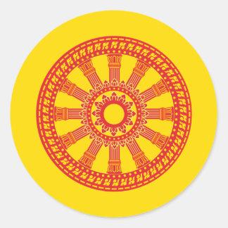 Dharmacakra - (Thailand) Design Round Sticker