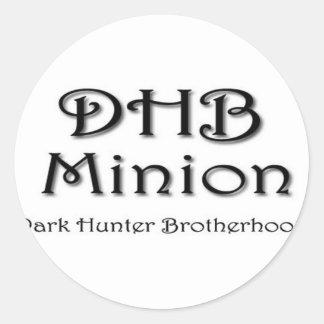 DHB MINION ROUND STICKER