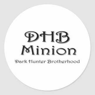 DHB MINION ROUND STICKERS