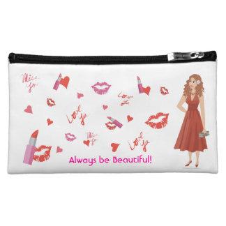 DHG Lipstick Kisses Cosmetic Bag