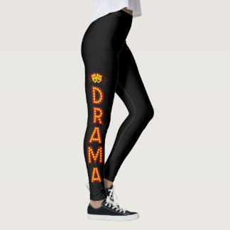 DHS Drama Logo leggings on leg