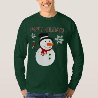 DHS Drama Logo snowman Happy Holidays T-Shirt