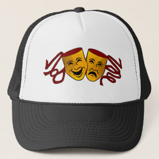 DHS Drama Tragedy/comedy masks trucker hat