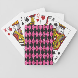 DIA1 BK-PK MARBLE PLAYING CARDS