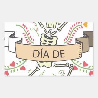 DIA DE Festival of the Dead Rectangular Sticker
