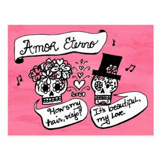 Dia de los Muertos, Amor Eterno Postcard