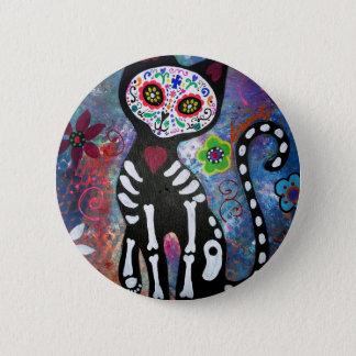 Dia de los Muertos Cat 6 Cm Round Badge
