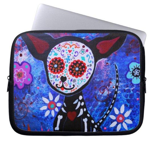 Dia de los Muertos Chihuahua Laptop Sleeve