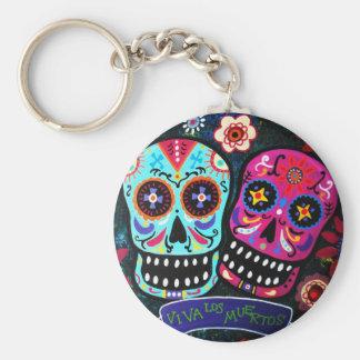 Dia de los Muertos Couple Keychains