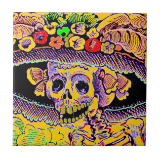 Dia de Los Muertos Day of the Dead Catrina Tile