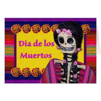 Dia de los Muertos, Day of the Dead Figurine Greeting Card
