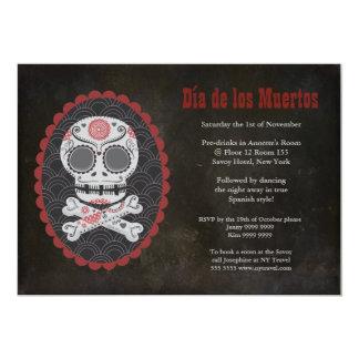 """Dia De Los Muertos Day of the Dead Party Invite 5"""" X 7"""" Invitation Card"""