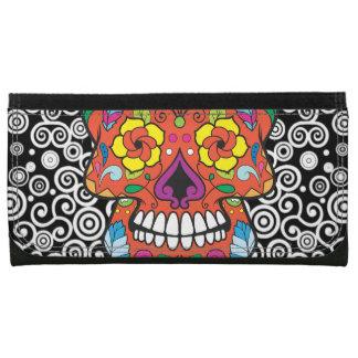 Dia de los Muertos Day of the Dead Sugar Skull Women's Wallet