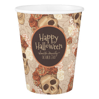 Dia De Los Muertos. Day of the Dead. Sugar Skulls. Paper Cup