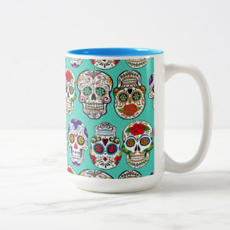 Dia de los Muertos (Day of the Dead) Two-Tone Coffee Mug