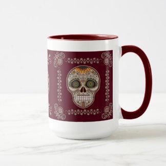 Dia de los Muertos decorative sunflower skull Mug